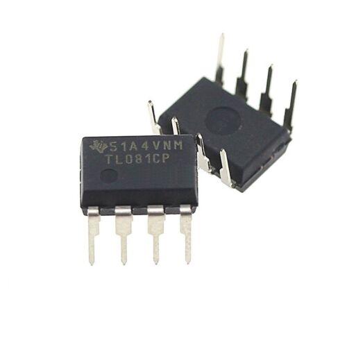 5Stks NEU 081 TL081CP TL081 TI IC JFET Input Operational Amplifiers DIP-8