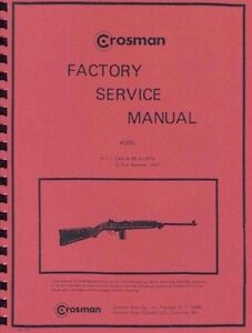 CROSMAN-M-1-CARBINE-BB-GUN-FACTORY-SERVICE-MANUAL-M1-HANDBOOK