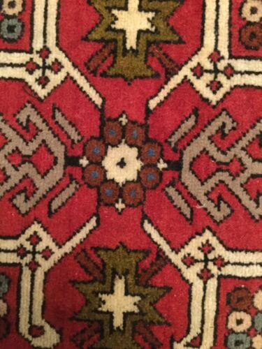 "Caucasian Antique Hand Made Rug 16/""x16/"""