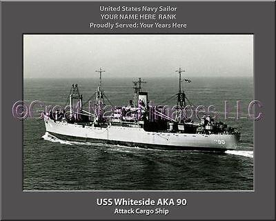 Naval Ship Photo Print USN Navy USS Whiteside AKA 90