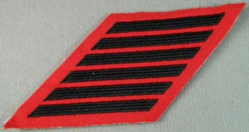 US Marine Corps Female Service Stripes 24 Years Olive On Scarlet New Pair