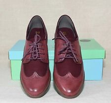 MODCLOTH EVERY DAY OF THE SLEEK BURGUNDY OXFORD FLATS SIZE 8 BY BC SHOES LACES