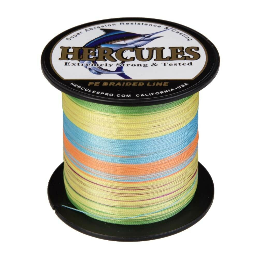 Hercules 300M 1000M Fluoreszierendes Gelb 4 Fach Geflochtene Angelschnur Schnüre