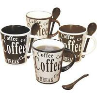 Gibson 8pc Coffee with Spoon Set 4 Designs Mr. Multi Kitchen