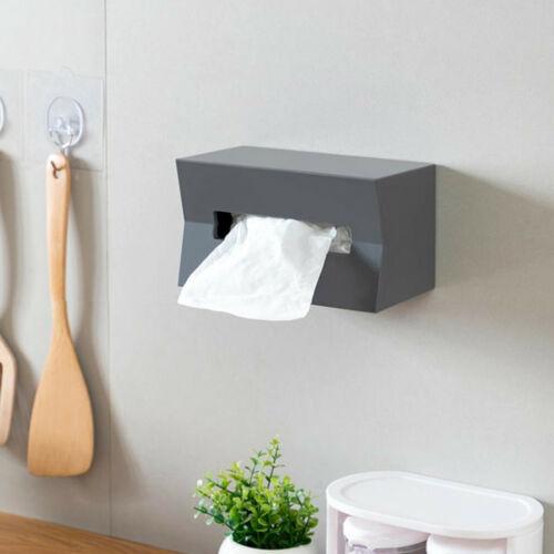 Tissue Box Cover Wall Mount Napkin Paper Case Holder Storage Organizer Dispenser