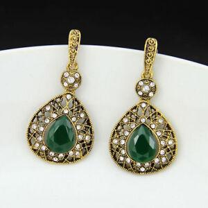 New-Crystal-Lady-Ear-Stud-drop-dangle-Vintage-Women-Earrings-Fashion