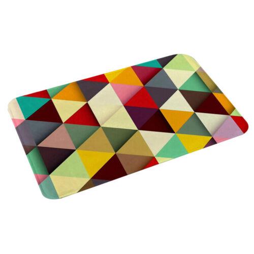 Geometric Pattern Anti-Slip Carpet DoorMat Kitchen Bathroom Bath Mat Floor Rug