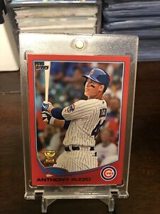 Details About Anthony Rizzo 2013 Topps Red Border Target Exclusive Sp Rookie Card Chicago Cubs