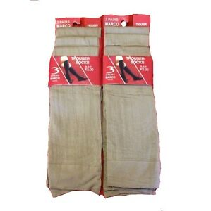 Energisch Six Pairs Of New Ladies Brown/skin Colour Long Trouser Socks/ Pop Sock One Size Up-To-Date-Styling Kleidung & Accessoires