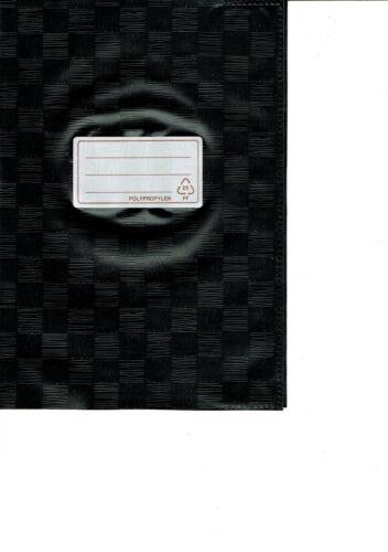 10 Stück Heftumschläge DIN A5 schwarz gedeckt Heftumschlag Heftschoner