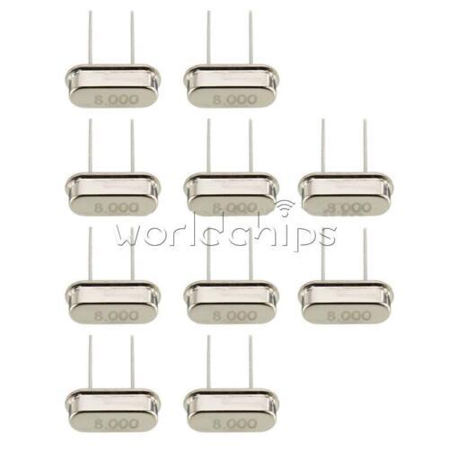 50PCS 8.000MHZ 8 MHZ 8M HZ Crystal Oscillator HC-49S