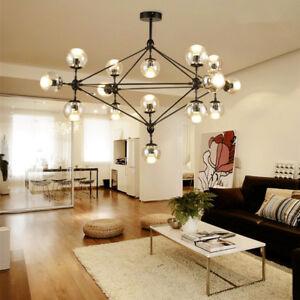 Large Chandelier Kitchen Modern Ceiling Light Living Room Glass ...