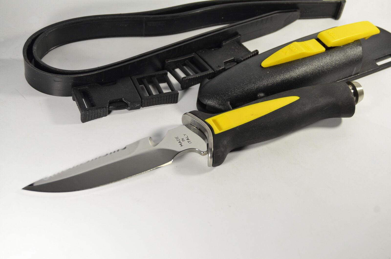 MAC MAC MAC Coltellerie Aquatys Tauchermesser EDC Messer Maniago Italien Gelb 3a62e9