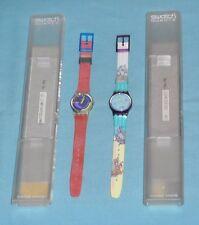 vintage SWATCH watch lot x2 COMPASS & PINK PODIUM
