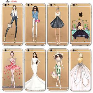 Custodia-Cover-Design-Donna-Modella-Per-Apple-iPhone-4-4s-5-5s-5c-6-6s-7-Plus-SE