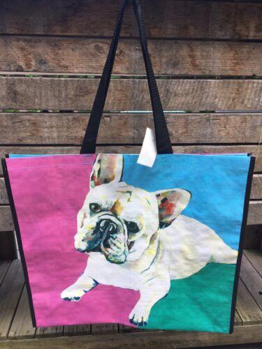 NEW Marshalls Shopping Travel Bag Tote~Frenchie Bulldog ~Reusable~EcoFriendly