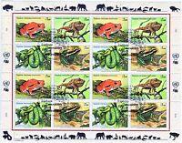 UNO-Genf   Mi.-Nr. 537-40  Gefährdete Arten  Kleinbogen mit ESST