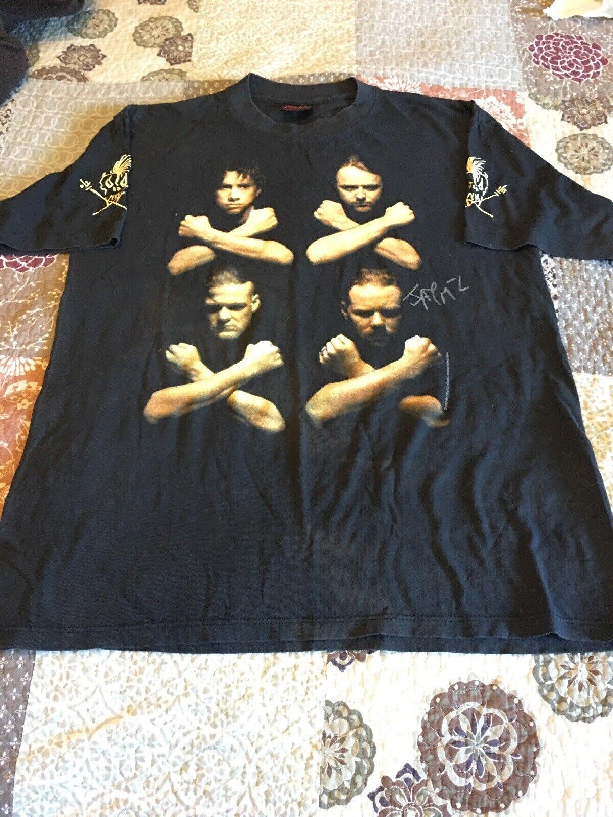 Signed Authentic Vintage METALLICA T Shirt LG Birth School Metallica Death