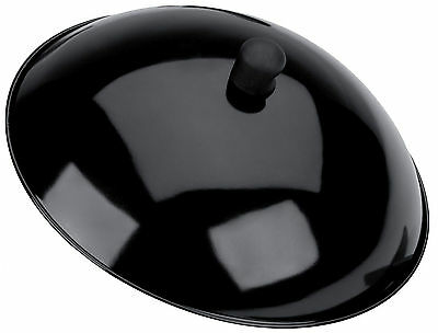 Typhoon Gloss Black Metal Wok Lid 13 Inch / 34cm