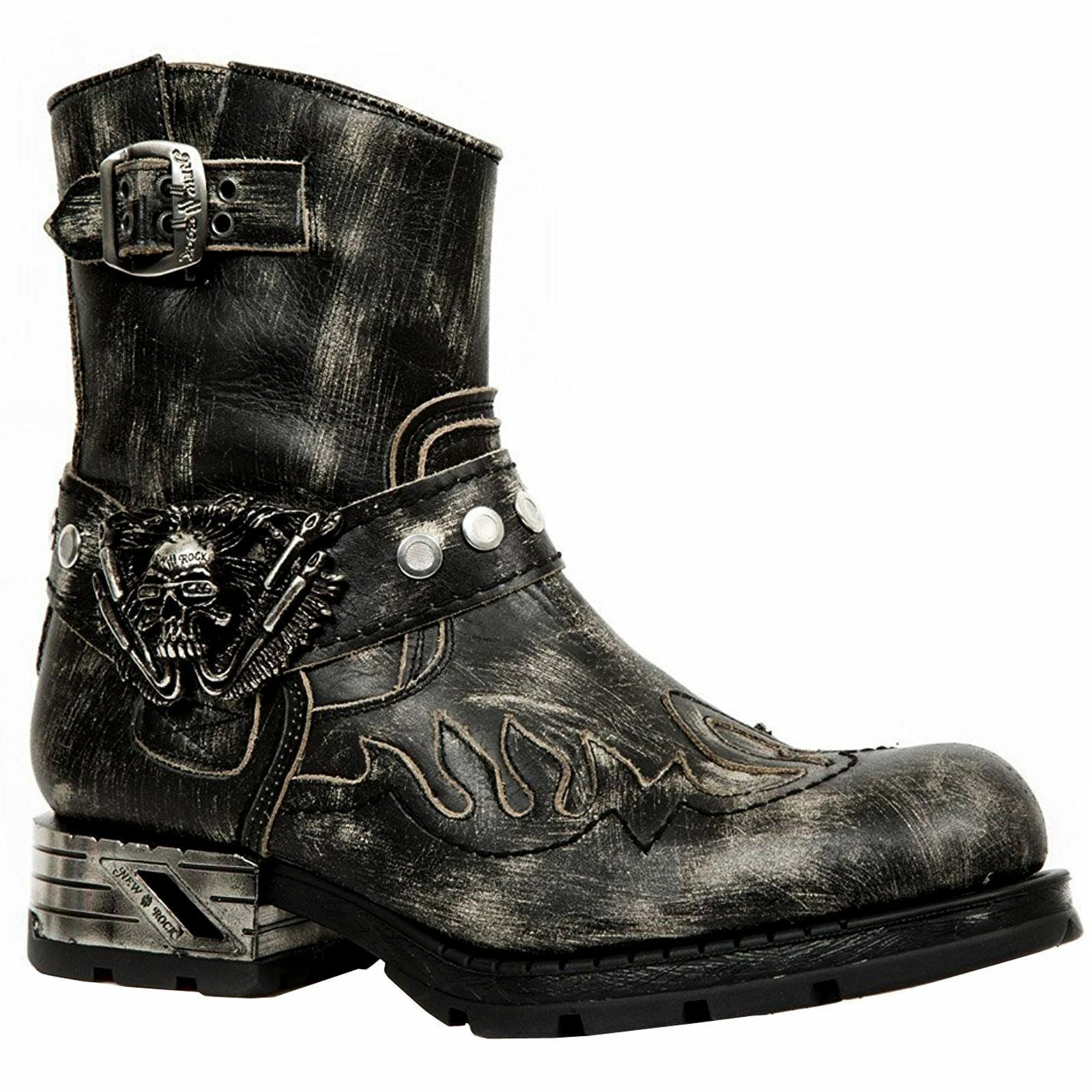 NEU Rock Unisex M.MR041-S3 Leder Stiefel