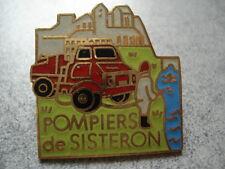 PINS POMPIER FRANCE SISTERON SAPEURS POMPIERS