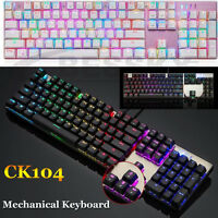 Motospeed Inflictor CK104 Mechanical Wired Keyboard Blue Switches Backlit RGB