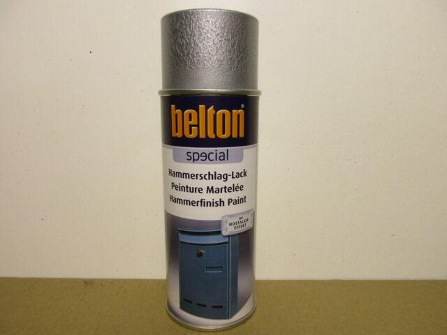 1 Spraydose Hammerschlag Lack Silber Sprühdose Belton Spray Sprühfarbe 400ml