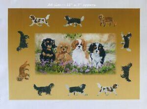 CAVALIER-KING-CHARLES-SPANIELS-DOG-FABRIC-PRINT-d-ARTIST-SANDRA-COEN-CRAFT-SEW