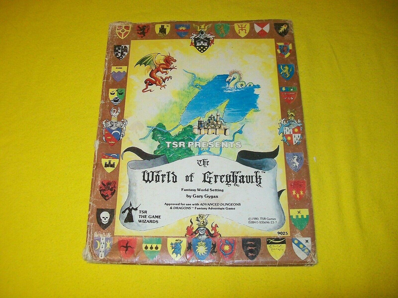 THE WORLD OF GREYHAWK FANTASY WORLD SETTING FOLIO DUNGEONS & DRAGONS AD&D 9025 8