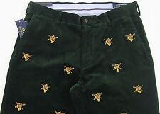 Men's POLO RALPH LAUREN Green Corduroy Pants Fox Hunting 33x32 33 NWT NEW WOW!