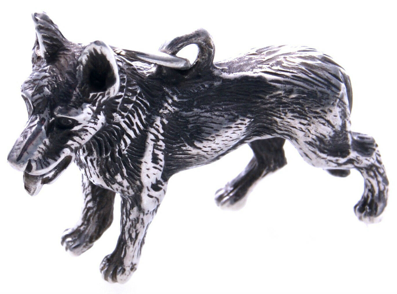 XL Anhänger Schäferhund groß silver 925 massiv Sterlingsilver Hund Unisex