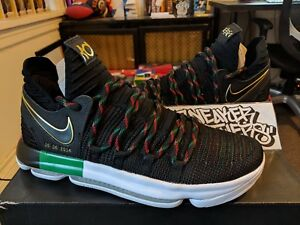 260386b02077 Nike Zoom KD X 10 LMTD Black Multi-Color BHM History Month Durant ...