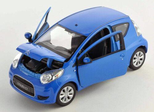 BLITZ VERSAND Citroen C1 blau blue 1:24 Welly Modell Auto NEU /& OVP