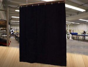 Black Stage Curtain/Backdr<wbr/>op/Partition, 12 H x 11 W, Non-FR