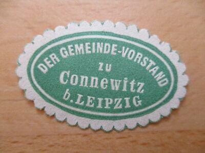 Siegelmarke Gemeinde-vorstand Zu Connewitz B 21103 Leipzig