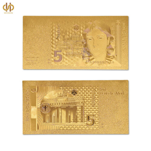 1991 Germany 5 Mark Deutsche Banknote Paper Money Embossed Note Billl W// COA