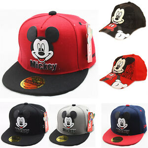 Kids Boys Girl Mickey Mouse Baseball Cap Hip-hop Sport Toddler ... feca3f52aa86