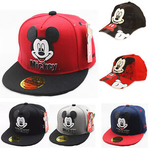Kids Boys Girl Mickey Mouse Baseball Cap Hip-hop Sport Toddler ... 5749a16d73dc