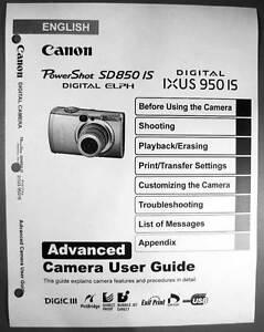 canon powershot sd850 is ixus 950 is digital camera user guide manual rh xywoashop top canon powershot sd850 is user manual Canon S5is Camera