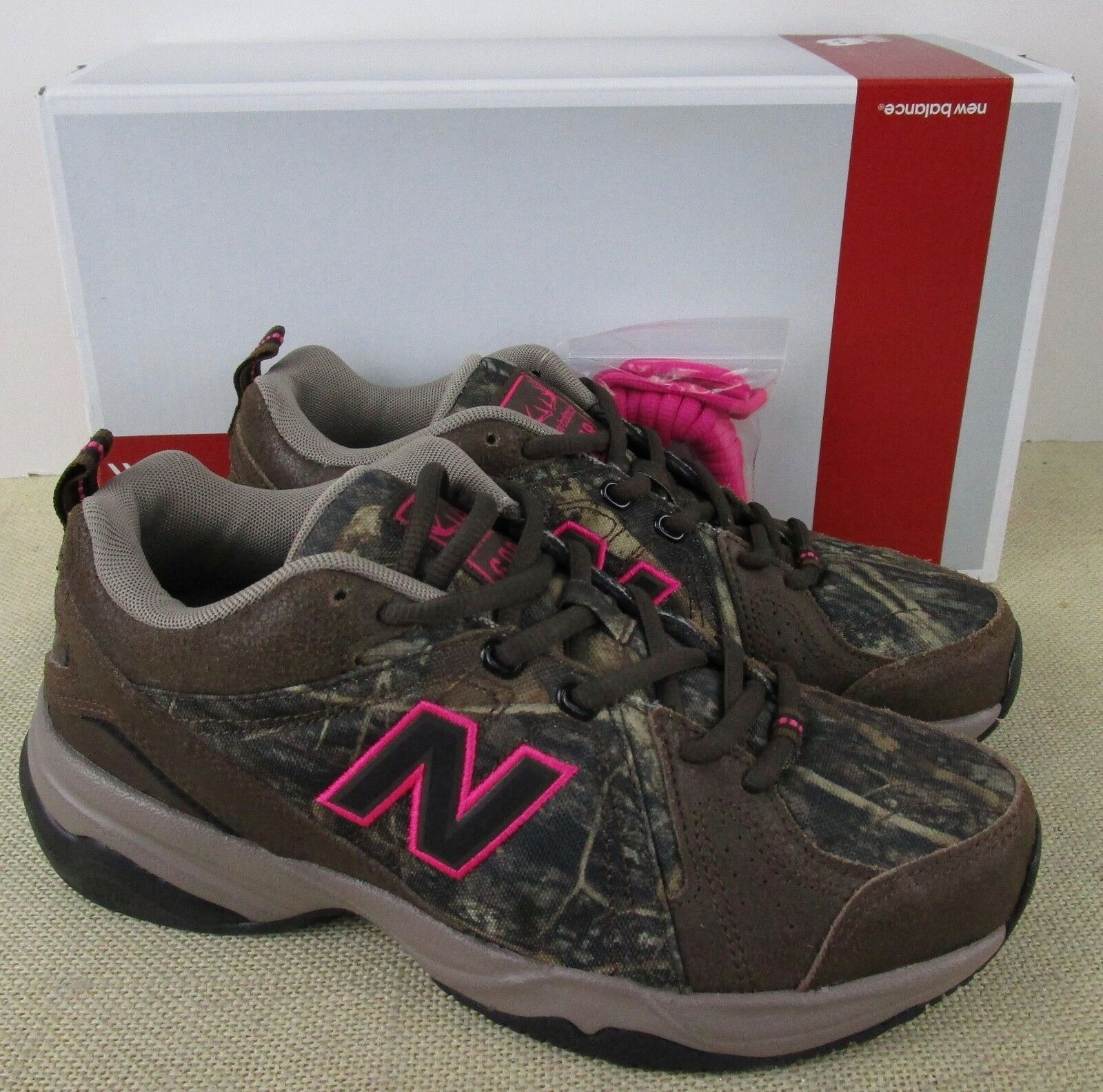 NEW BALANCE WX608V4C WOMEN'S BROWN CAMO SNEAKERS NEW IN BOX