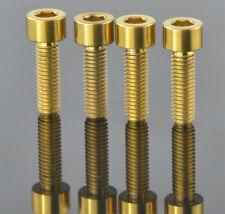 4pcs Gold M6 x 20mm Gr5 Titanium Ti Bolt Disc Brake Caliper Adapter Mount