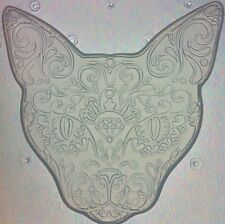 Flexible Resin Mold Sugar Skull Day Of The Dead Kitty Cat Mould