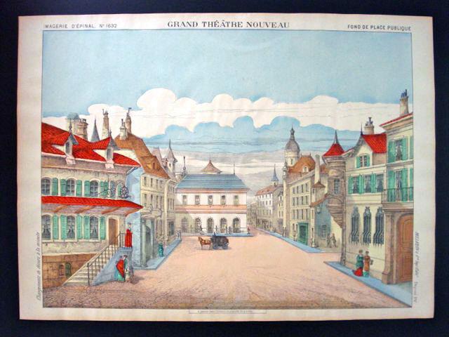 PELLERIN Imagerie d'epinal-grand Teatro Nouveau N ° 1632 calle pública inv1750