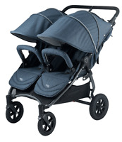 Valco 2016 Neo Twin Stroller In Denim Tailormade Fabric Brand Double
