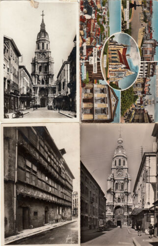 Lot 4 cartes postales anciennes BOURG-EN-BRESSE