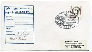100% Vrai 1993 Dlr Test Spacelab D2 Wessling West Germany Space Cover Signed