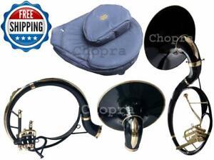 """Sousaphone Colored Black 22"""" Bb """"Chopra Make """" 3 V  BAG & MOUTH PIECE FREE"""
