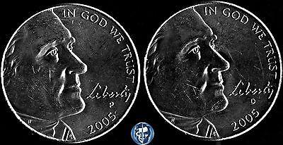 2005 S  BISON /& OCEAN IN VIEW Jefferson PROOF Nickels 2 Coins