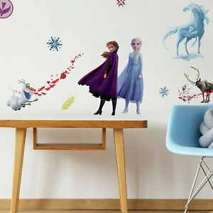 Roommates-Frozen-2-Peel-amp-Stick-21-Wall-Decal-Girls-Room-ELSA-ANNA-OLAF-Stickers
