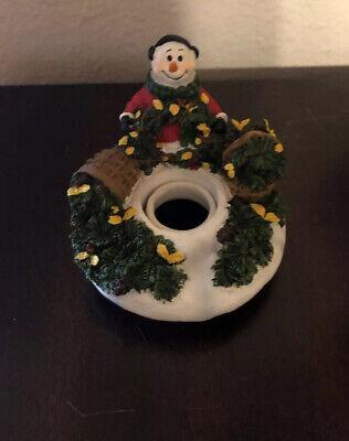 Yankee Candle Capper Topper Snowman Pine Tree Ceramic ...